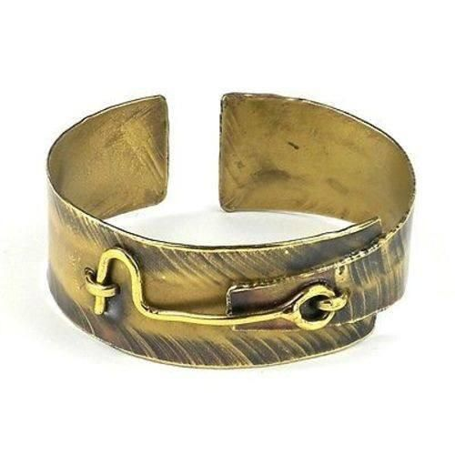 Hook and Eye Brass Cuff - Brass Images (C)