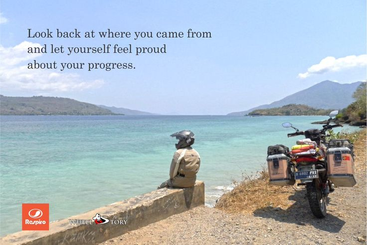 Look back at where you came from and let yourself feel proud about your progress.  #ThrowBackThursday  Photo by @wheel_story  #Thursdate #thoughfulthursday #ThankfulThursday #journey #riding #traveling #touring #adventure #explore #adventureriding #motoadventure #offroad #ridingjacket #ridingconcept #ridinggear #ridingwear #ridingware #respiroridingware #wheelstory