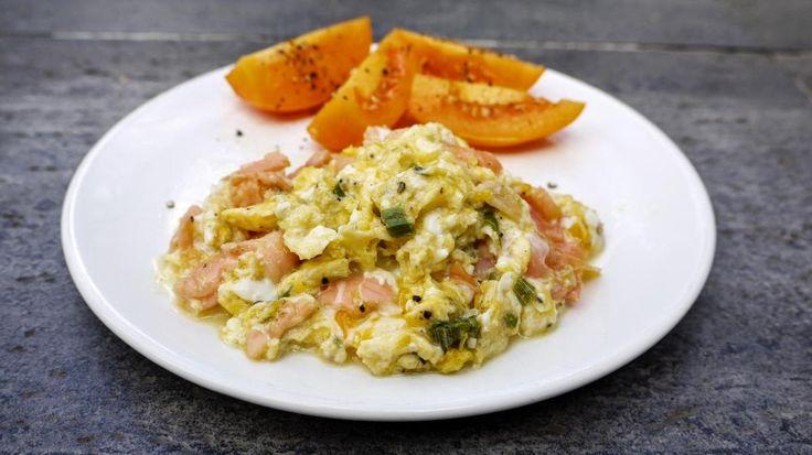 Polskie South Beach: Jajecznica z łososiem