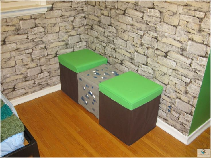 Cute Double Chairs Minecraft Design For Kid Bedroom