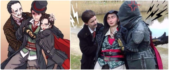 When Max and Evie are arguing about Jacob  rothfrye / maxwell roth cosplay /  maxwell roth jacob frye / Jacob x Roth