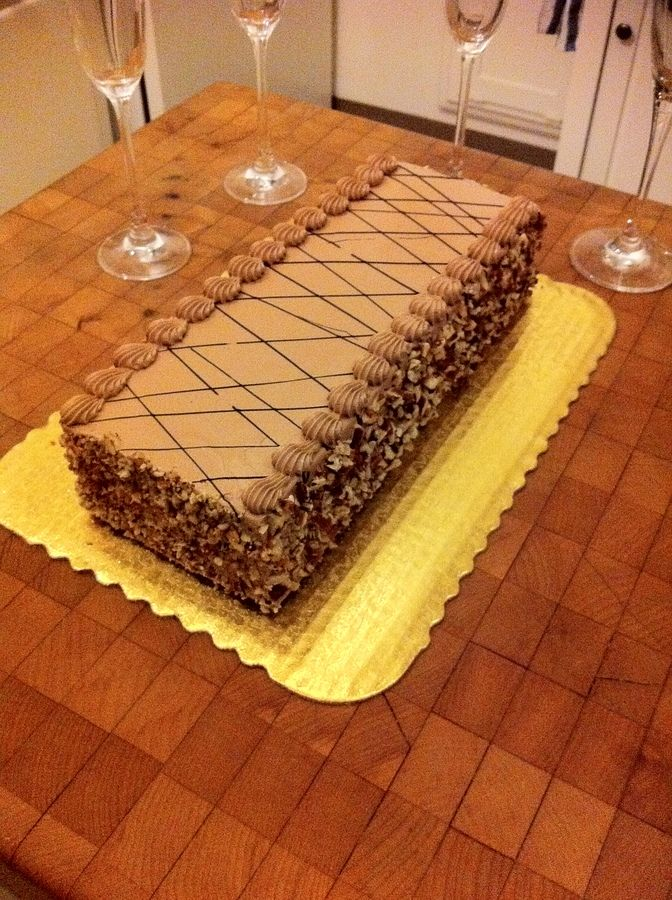 Pecan-Espresso Birthday Cake With Coffee Icing Recipes — Dishmaps