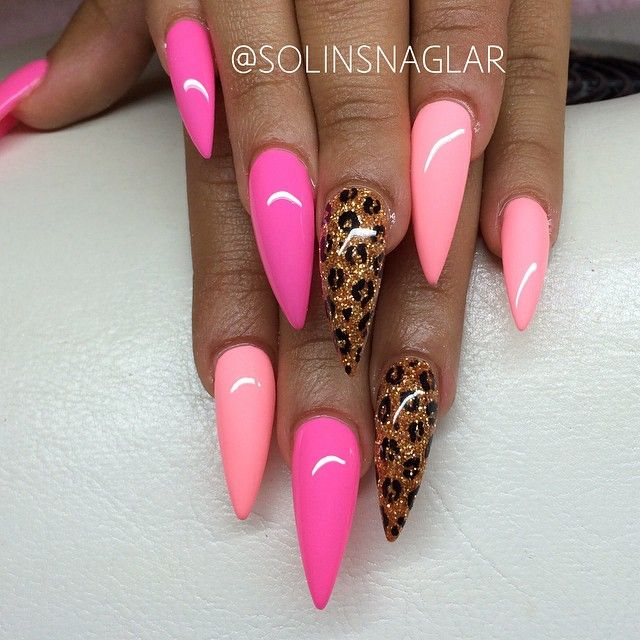 144 best stiletto nail art images on pinterest nail designs pink and lopard nails prinsesfo Gallery