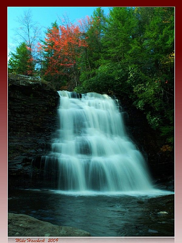 Swallow Falls State Park, a Maryland park located nearby Oakland...south of Pittsburgh