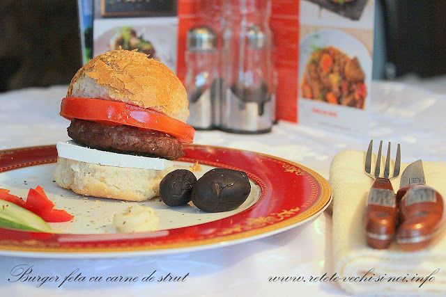 Caietul cu retete vechi si noi: Burgeri de strut cu feta