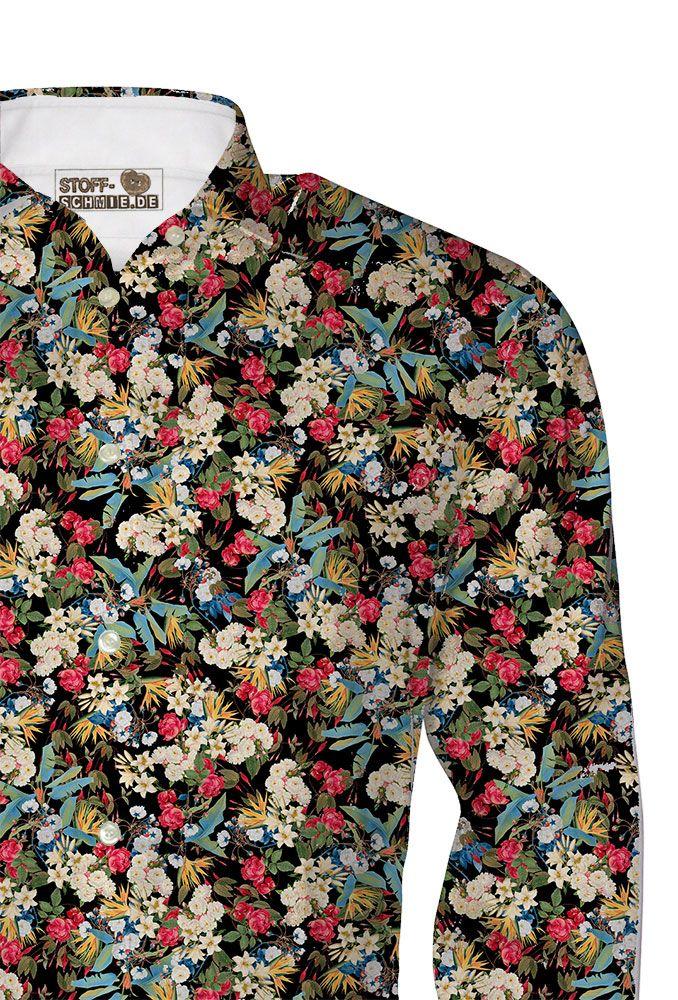 Wer kann schicke Hemden für den Liebsten selber nähen? Wir hätten da einen wunderbaren Popeline Stoff und noch schickeren Print...