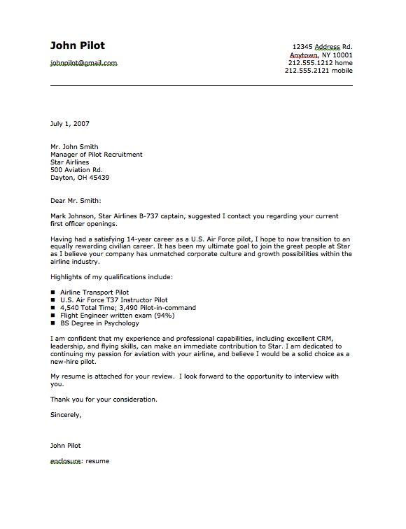 Military Pilot Cover Letter Sample - http://resumesdesign.com/military-pilot-cover-letter-sample/