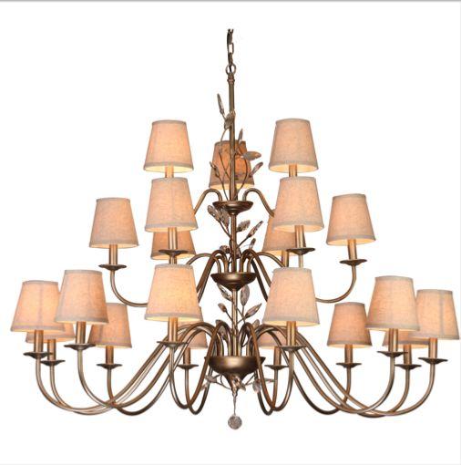 3 уровня металла тень ткани подвесной светильник современный дизайн кристалл большой проект дома люстры лампы освещения огни