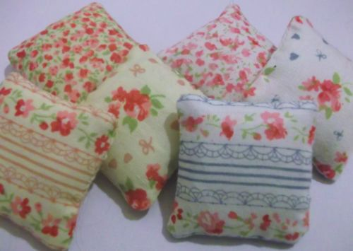 Dolls house set of 3 shabby chic cushions by VintageLundbyLove, £2.00