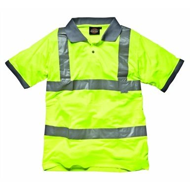This Dickies SA22075 High Visibility Safety Polo Shirt EN471 is a smart, simple and stylish shirt to wear to work. This garment helps keep you safe and seen, whether you're in a warehouse, loading dock or on the road.