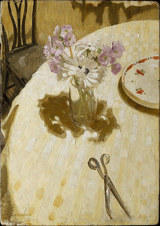 Primulas on a Table, William Nicholson. 1927