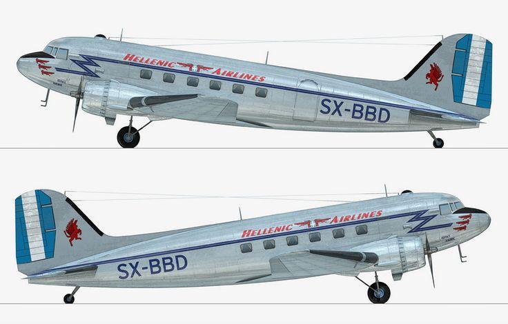 Hellenic Airlines Douglas C-47A-20DK (DC-3) [SX-BBD]