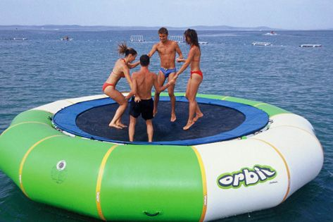 water trampoline 3 M diameter PVC 0.6mm  toy playing on the water