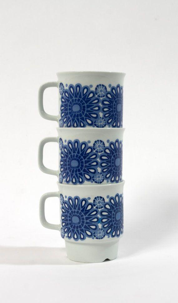 vintage cup collection egersund norway korulen mid by northvintage, kr280.00