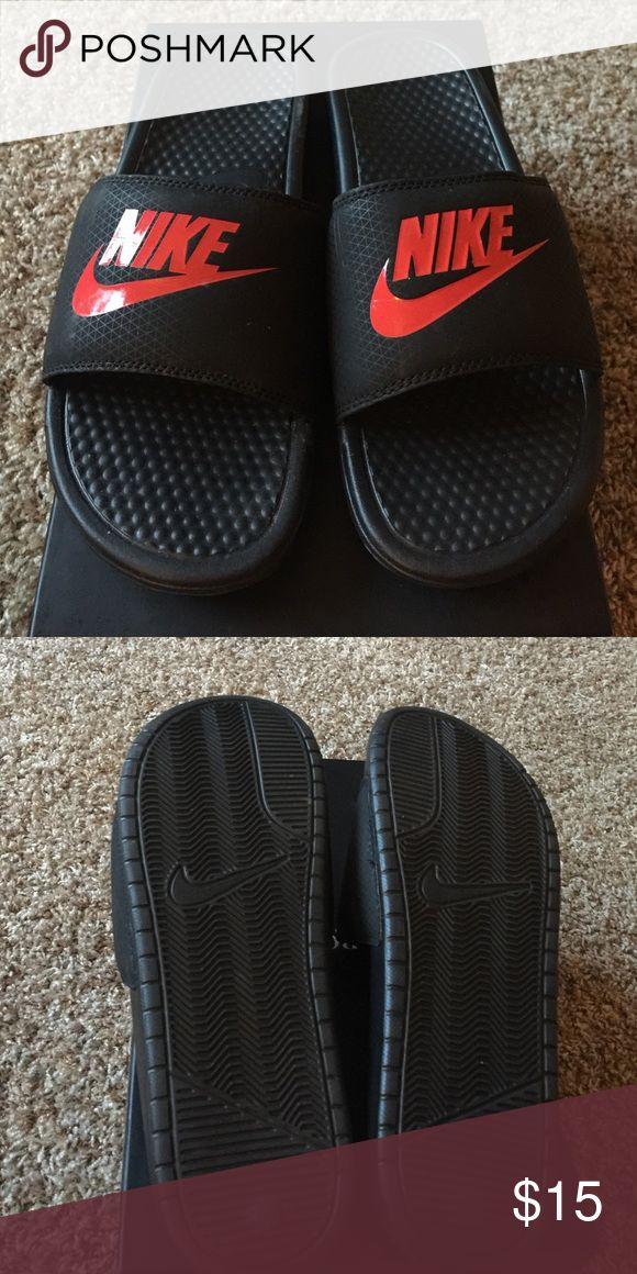 Men's Nike slip on sandal Never been worn Nike slip on sandals (does not come with box). Nike Shoes Sandals & Flip-Flops