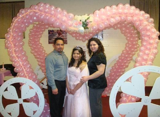 Sweet 16 decoration pictures quinceanera decorations and for Balloon decoration ideas for a quinceanera