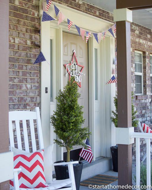 4th of July front porch | 4th of July banner