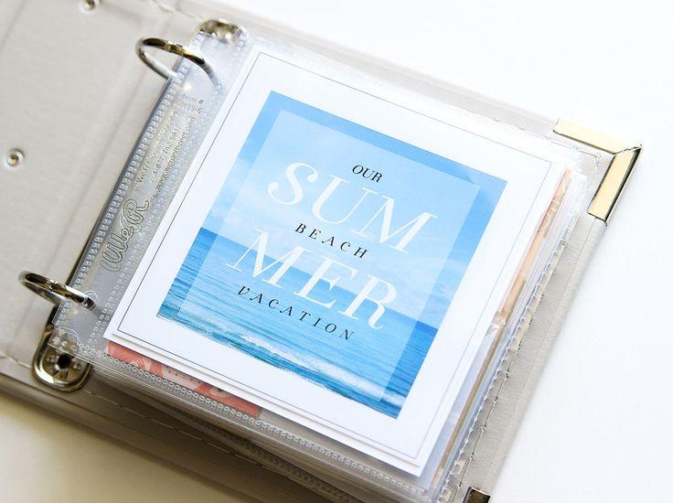 #papercraft #scrapbook #minialbum. 2014 Mini Beach Album Mini by jenkinkade at @studio_calico