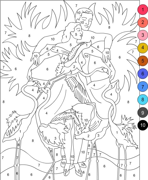 Nicole's Free Coloring Pages | Color by Number for Adults ...