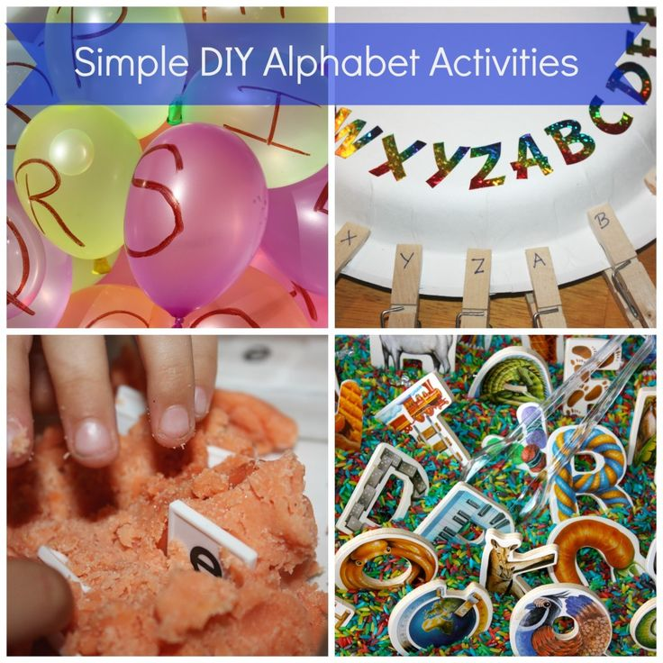 Simple Back to School Alphabet Activities Part I - Little Bins for Little Hands