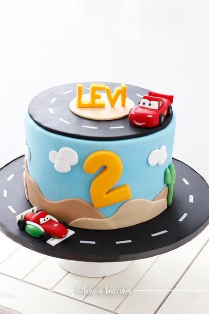 Disney Cars Cake! by Bake-a-boo Cakes NZ