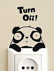 Dyr Panda Switch Sticker Wall Stickers – DKK kr. 23