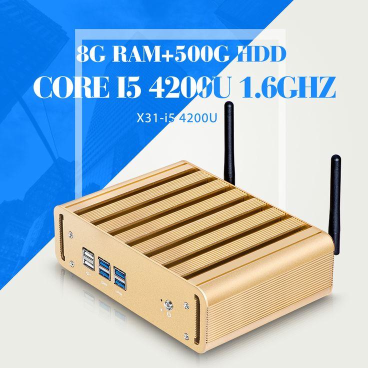 Mini Computer I5 4200U 8G RAM 500G HDD WIFI  6*USB Ultra Thin Client Terminal Virtual Pc Station