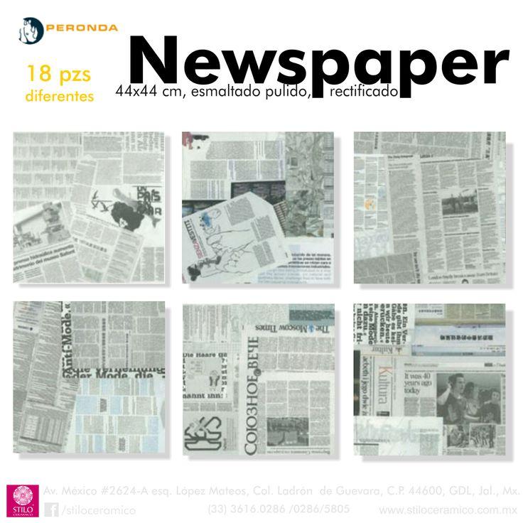 Newspaper de la linea Museum de Peronda España, pisos y muros ceramicos esmaltados pulidos.