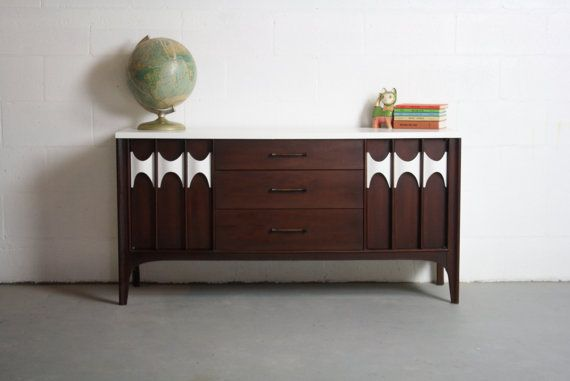 SALE Mid Century Modern Broyhill Brasilia Reworked Sideboard Buffet Bar Credenza Changing Table TV Cabinet