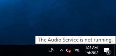 audio service not running after windows update
