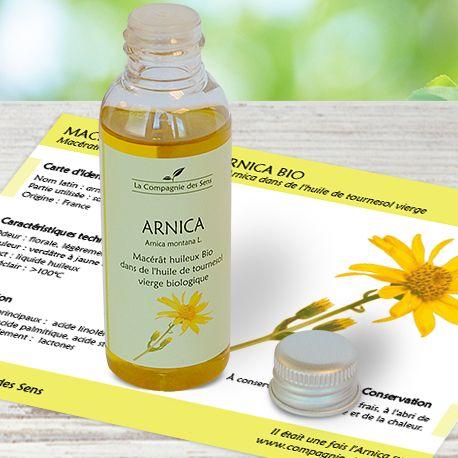 Macérât huileux d'Arnica BIO anti-inflammatoire, pour soulager les coups, les tendinites, les entorses et les varices