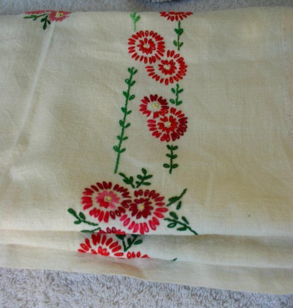 Fabulous Russian Embroidered Tea Towel by PsychicCeremonies
