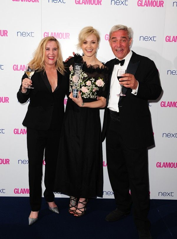 Fearne Cotton with the Radio Personality Award alongside Steph and Dom from Gogglebox at the 2014 Glamour Women of the Year Awards in Berkeley Square, London. (Ian West/PA)