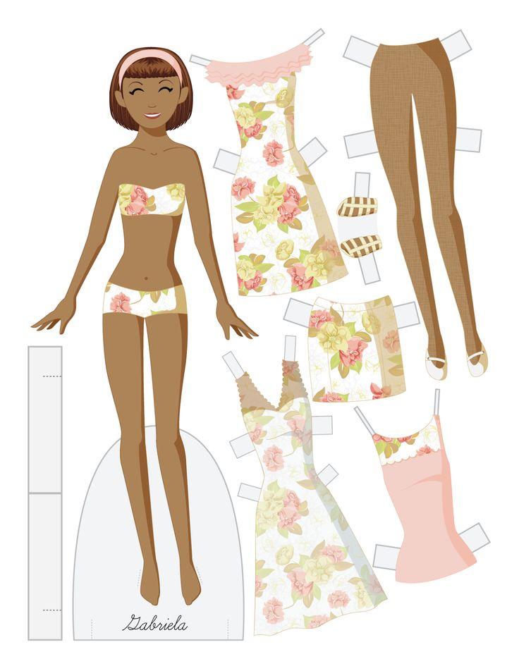17 Terbaik Ide Tentang Paper Doll Template Di Pinterest