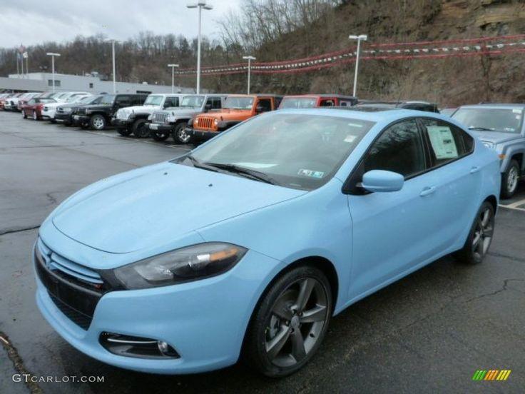 2013 Dodge Dart Rallye - Laguna Blue Color / Black/Light Diesel Gray Interior