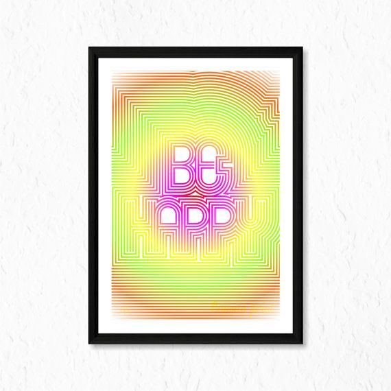 Item title:  Be Happy Canvas Print    Size:    A5 (148 × 210 mm / 5.83 × 8.27 in)  A4 (210 × 297 mm / 8.27 × 11.7 in)  A3 (297 × 420 mm / 11.7 × 16.5