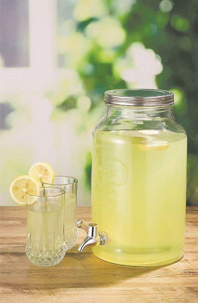 glass 5 liter mason jar drink dispenser xn1830 by retail factory direct for 998 in - Mason Jar Drinking Glasses