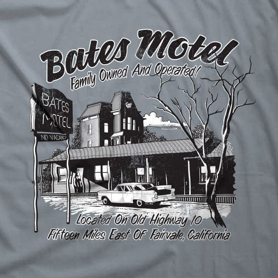 Bates Motel T-shirt Parody Psychos Norman Bates by Nifteez on Etsy