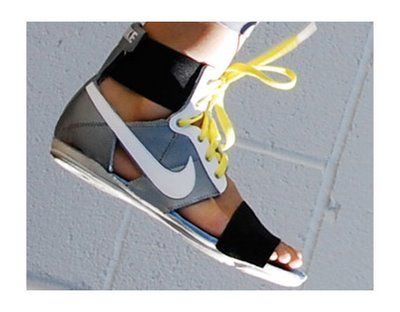 DIY sneaker sandals?! WTF Pinterest? These are hideous.