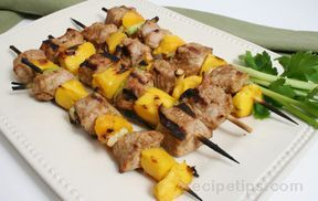 Pork and Mango Kebabs Recipe