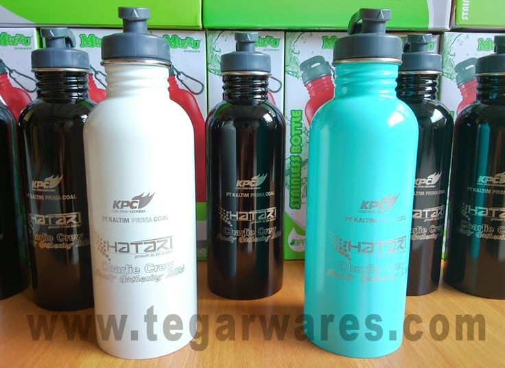 Stainless steel water bottles ordered by PT Kaltim Prima Coal, a coal mining company in East Kalimantan, Indonesia. elegant. With the design and look like this who could resist?