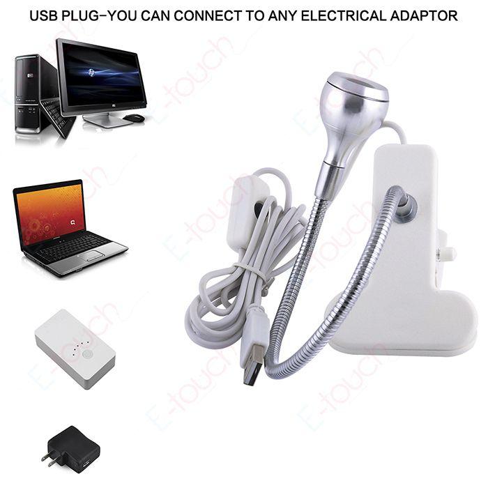 Портативный ПК портативный Ноутбук Клавиатура Компьютера USB LED настольная Лампа Гибкие Светодиодные 2 Цвет (ET342)