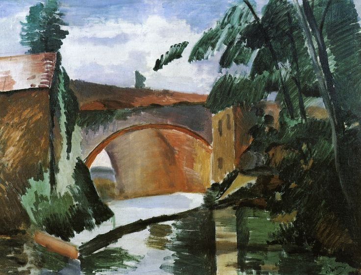 The River, 1912, oil on canvas, 56 x 73 cm, Private Collection, Fauvism, Andre Derain (1880-1954).