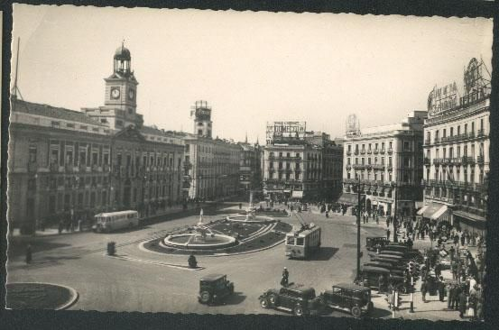 puerta del sol 1920 1950 madrid antiguo madrid old