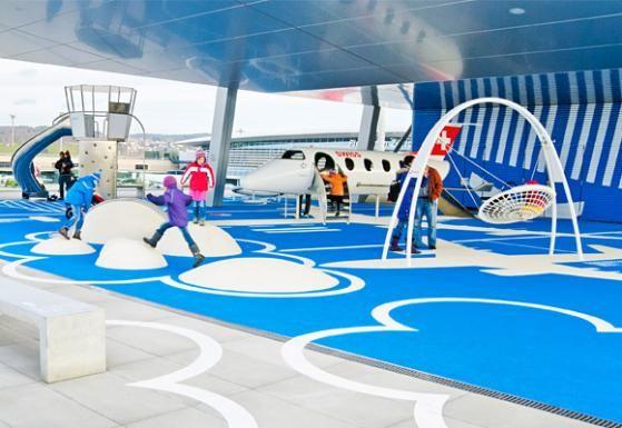 Children area at Zurich airport #playground