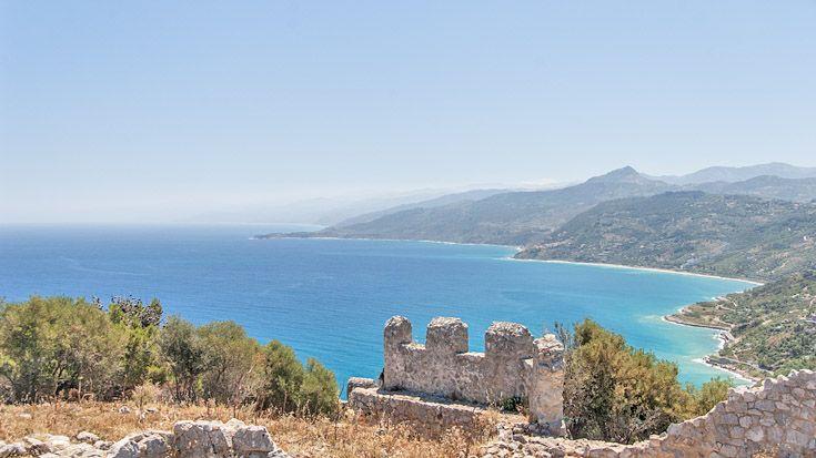 Cefalu - Blick vom Rocca aus auf das Meer