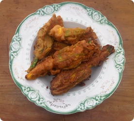 crispy fried zucchini flowers