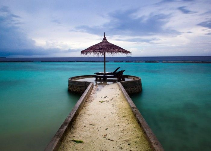 Beach Travel — Beach of Chaaya Reef Ellaidhoo, Ari Atoll,…