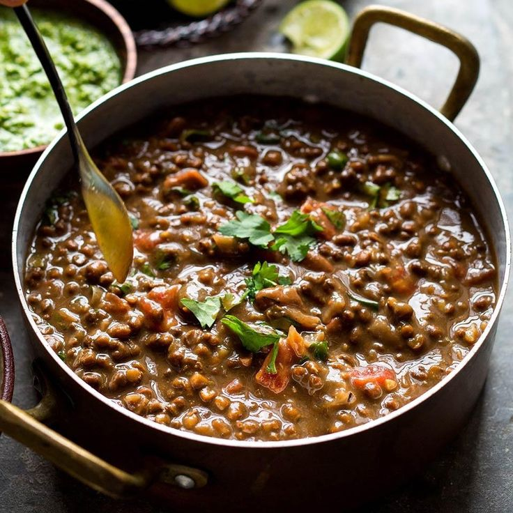 Using a slow cooker for this dal curry recipe is brilliant—the lentils cook until they're perfectly tender.