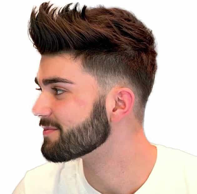Plain short beard style